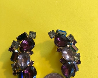 Unsigned clip back earrings