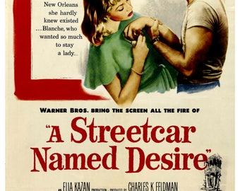Vintage A Streetcar Named Desire Movie Poster Print