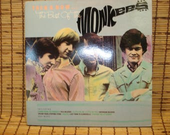 Vintage Vinyl LP - Then & Now... The Best Of The Monkees - Arista Records - 1986