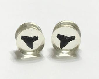 "14mm (9/16"") Shark Tooth Plugs - Gauges - Stretched Ears - Double Flare Plugs"