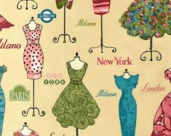 Novelty Cotton Fabric Robert Kaufman Fashion - Dress Up  -