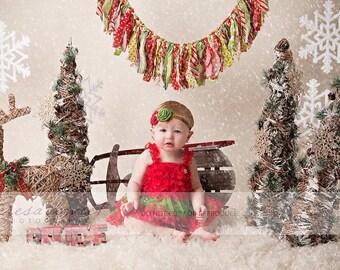 The Santa's Little Helper Headband or Hair Clip