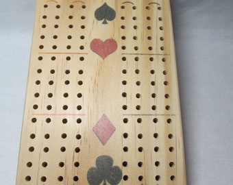 Wood Cribbage Board/Compact Cribbage Board/Customizable Cribbage Board