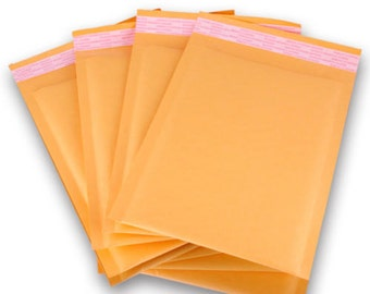 "100 Kraft  4""x 6"" bubble mailer Premium MADE Kraft Bubble Padded Mailers Envelope Bags"