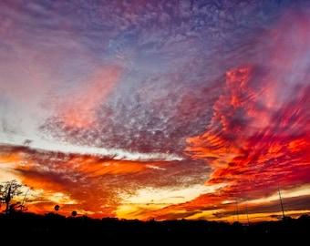 Amazing Florida Sunset Fine Art Print - Travel, Scenic, Landscape, Nature, Home Decor, Zen
