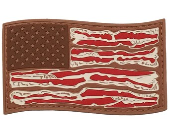 American Bacon Flag PVC Morale Patch