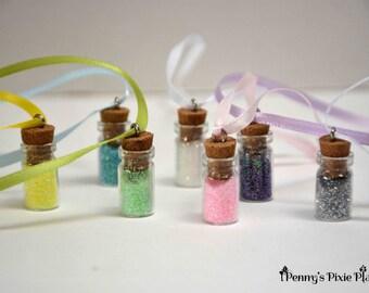 Pixie glitter, Fairy Garden, Tiny Glitter Jars, Fairy garden accessory, gift for girl