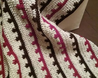 Made to Order 4' by 6' Crochet Blanket - Drop Stitch Afghan, Custom Blanket, Crochet Blanket, Beach Blanket, Home Décor, Crochet Afghan