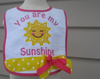 you are my sunshine  birthday bib, 1st birthday bib, smash cake bib, 2nd birthday bib, sunshine birthday, little sunshine birthday