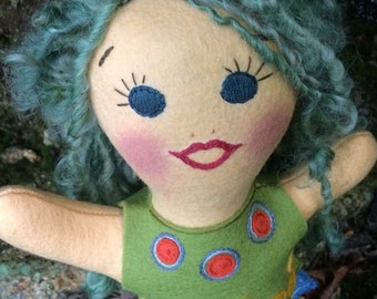 Lovingly handmade merino wool felt dolls-custom design