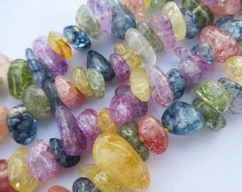 Natural Quartz Beads 10-20mm Chip Beads Quartz Bead Strands g001