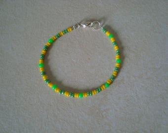 Bracelet little girl green and yellow