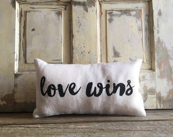 Pillow Cover | Love Wins pillow | Love Wins | #LoveWins | LGBT marriage | Gay Pride | LGBT | Gay wedding | Commitment Ceremony |