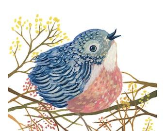Spring Bird art print - archival fine art