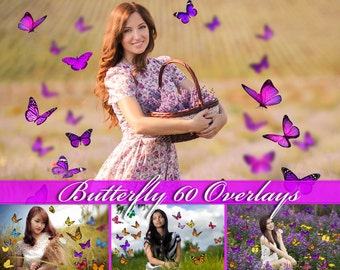 60 Butterfly Overlays Photoshop Overlays Natural Butterfly Overlays Flying Butterflies Flying Butterfly Photo Overlays Butterfly PNG Photo