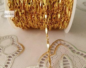 Gold bar chain-13 feet fabulous chain-brass chain-F78jin