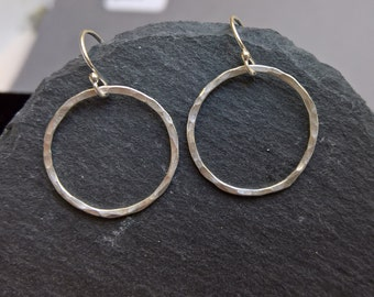 Silver hoop earrings, silver hoops, everyday earrings, simple earrings, circle earrings, circle jewellery, dainty hoop earrings