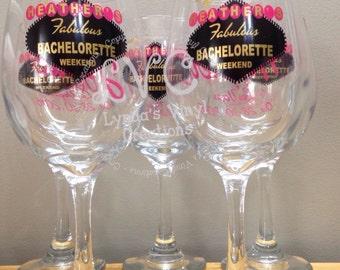 Las Vegas Bachelorette Wine Glass//Bridesmaid//Wedding Party