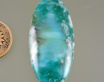Chrysocolla Cabochon, Chrysocolla with Malachite and Quartz Cab, Gift Cab, C2962, Hand Cut by 49erMinerals