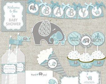 """Boy Baby Shower Printable PDF Party - """"Baby of Mine"""" Collection"""