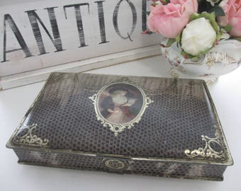 Elegant Antique French Tin