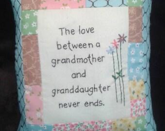 Granddaughter and grandma pillow