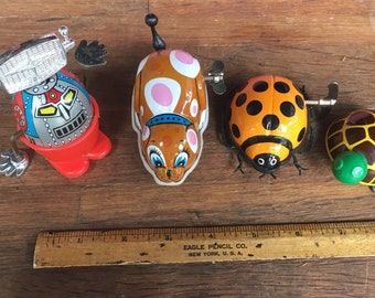 Lot of 4 Windup Toys. 1960s/1970s Windup Toy.