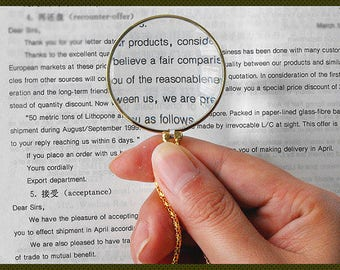 Magnifying Glass Necklace Pendant Monocle Magnifying Glass Necklace Pendant002