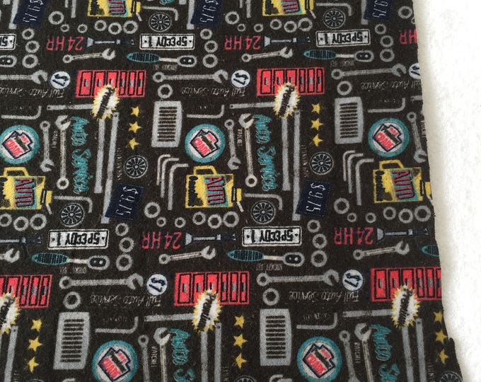 three pack mechanic themed burp cloths