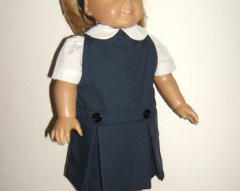 18 inch Doll Navy/Khaki/Grey/Burg School Jumper