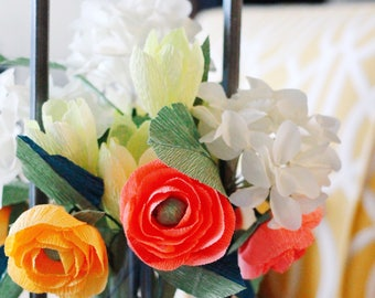 Mix-and-Match Crepe Paper Flower Stems for Your Custom Arrangements