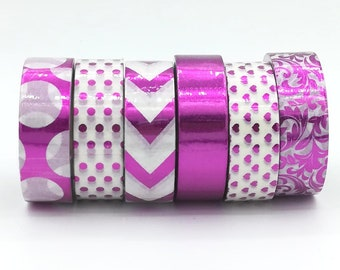 10m Foil Washi Tape roll  pink chevrons arrows dot flower planner supplies scrapbooking cheap bestseller fun design