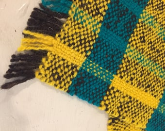 Place Mats, Table Mats, Hand Woven Hand spun and hand dyed Irish wool