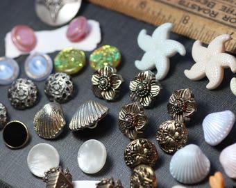 Buttons Assortment Variety Mixed Lot Destash Craft Sewing Supplies