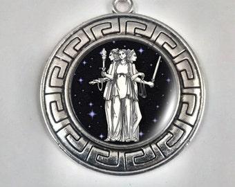 Greek Goddess Hecate, Moon Goddess, Guardian of Crossroads, Goddess of Magic, Goddess Protector.