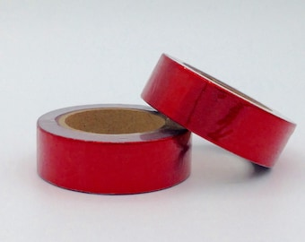 10m Foil Washi Tape roll - red  - Christmas - Gift - decoration planner supplies scrapbooking bestseller design cheap