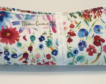 Changing Mat, Travel Changing Pad, Floral, Wipeable, Large, Toddler, Baby Girl, Baby Shower, Red, White
