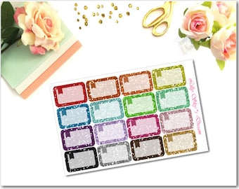 HB09 Glitter Flagged Half Boxes