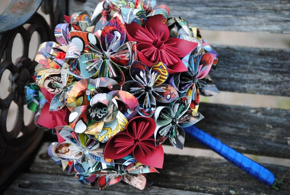 Custom Paper Flower Wedding Bouquet. Bride, Bridesmaid.  Custom Orders Welcome