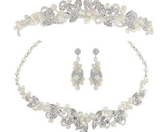 Tiara jewelry set, Tiara, Jewellery set, bridal tiara, crystal tiara, bridal tiara, jewellery wedding set, jewelry tiara set, wedding tiara
