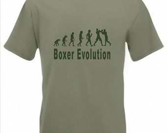 Evolution To Boxer t-shirt Funny Boxing T-shirt sizes S TO 2XXL