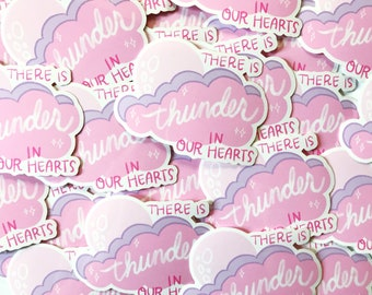 There is Thunder in Our Hearts Kate Bush vinyl sticker