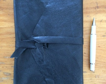 Leather Cover and Journal ~ 8.5 x 5.5, 140 pages ~ refillable: sketch, write, travel, guest book