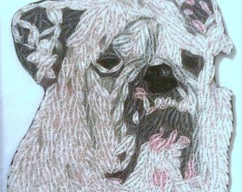 Custom Paper Quilled Pet Portrait
