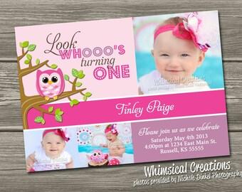 Owl Birthday Invitation (Digital File) - I Design, You Print