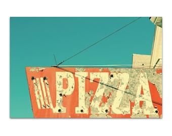kitchen print, food photography, pizza sign, 8x10, 8x12, 11x14 - Pizza, original art print