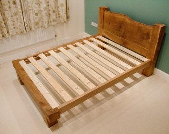 Oak Bed Frame - Solid Oak Framing Beams - Oak Beam - Bed - Wooden Bed - Bedroom Furniture - Double Bed - Queen Size - King Size - Single