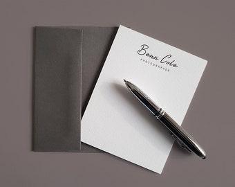 Letterpress business card finoprint by finoprint on etsy personalized letterpress note cards colourmoves Gallery