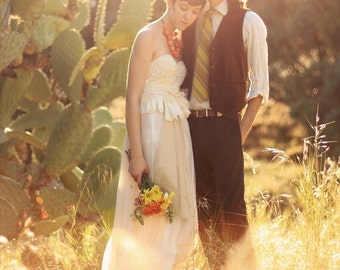 The Cactus Flower Wedding Dress --made to order--