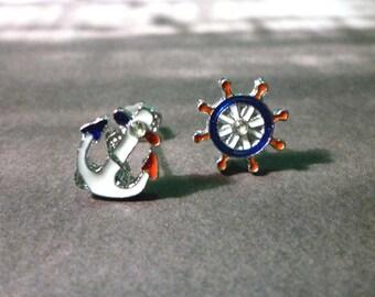 Mini Nautical Stud Earrings